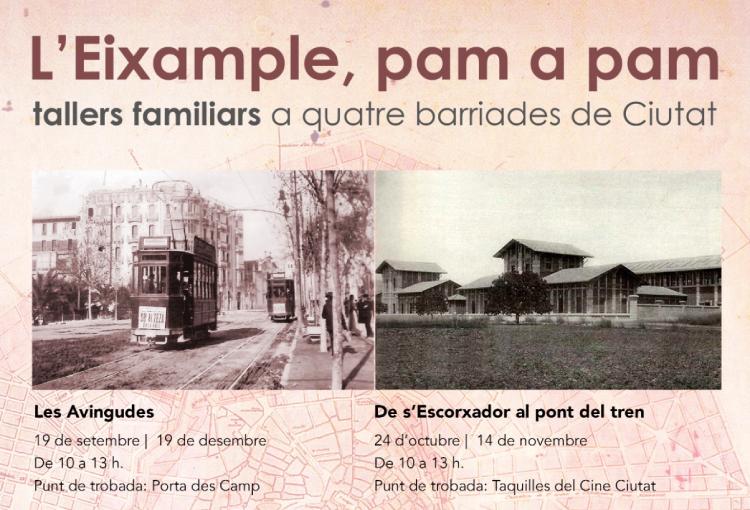 Tallers familiars: L'Eixample, pam a pam. Setembre – desembre 2020.