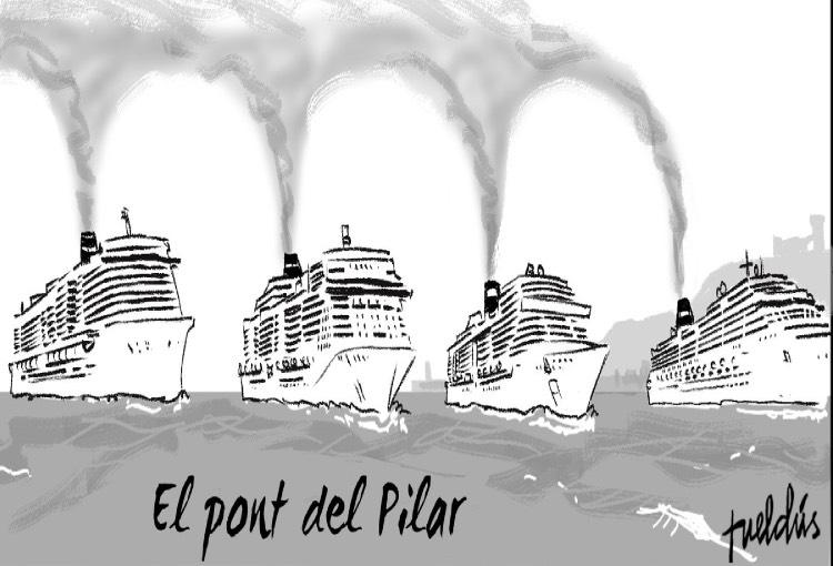 Un altre cop 5 creuers al port de Palma: un atemptat contra el sentit comú